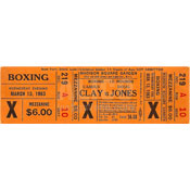 Cassius Clay / Doug Jones On-Site Ticket