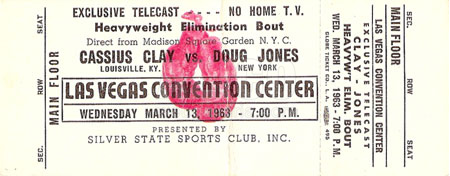 Cassius Clay / Doug Jones Closed Circuit Ticket