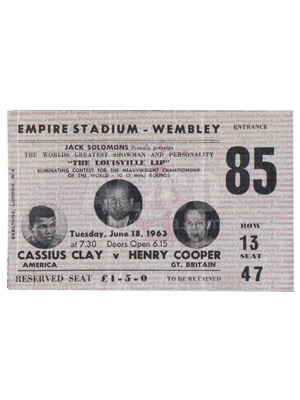 Cassius Clay / Henry Cooper I Ticket