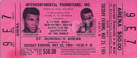 Muhammad Ali / Sonny Liston II On-Site Ticket