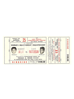 Muhammad Ali / Floyd Patterson Ticket
