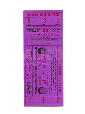 Muhammad Ali / Floyd Patterson I On-Site Ticket