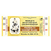 Muhammad Ali / Cleveland Williams Ticket