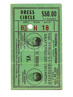 Muhammad Ali / Jerry Quarry I Ticket