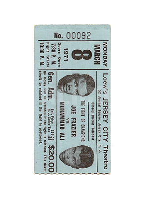 Muhammad Ali / Joe Frazier I Closed Circuit Ticket