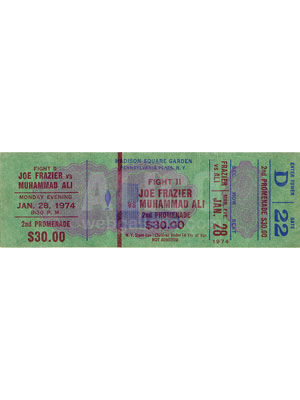 Muhammad  Ali / Joe Frazier II Ticket