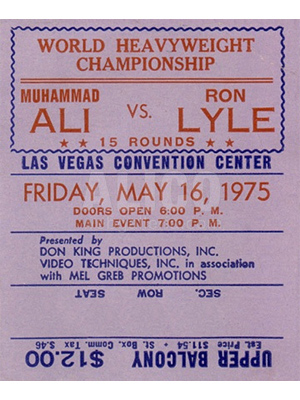 Muhammad Ali / Ron Lyle Ticket