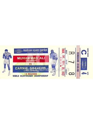 Muhammad Ali / Earnie Shavers Ticket
