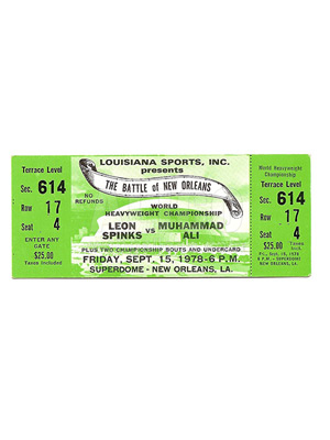 Muhammad Ali / Leon Spinks II Ticket