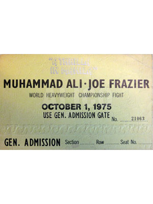 Muhammad  Ali / Joe Frazier III Ticket