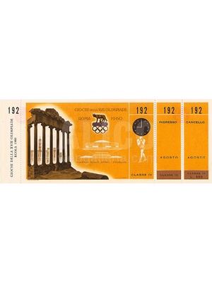 Cassius Clay Original Full Unused Ticket for the 1960 Rome Olympics