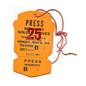 1959 Cassius Clay Golden Gloves Press Pass